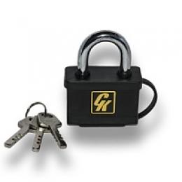 Замок навесной ВС-3060L хром 60мм - 3 ключа.дл.дужка  Блистер