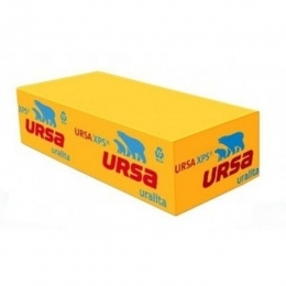 Пенополистирол УРСА, URSA XPS (1185х600х100мм) 2,844м2, 0,2844 м3, 4 шт.