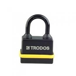Замок навесной всепогодный BM-02-45 желтый (Blister) TRODOS