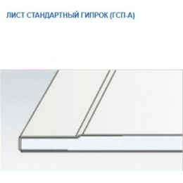 Гипсокартон ЛАЙТ Гипрок 9,5х120х2500мм