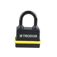 Замок навесной всепогодный BM-02-35 желтый (Blister) TRODOS