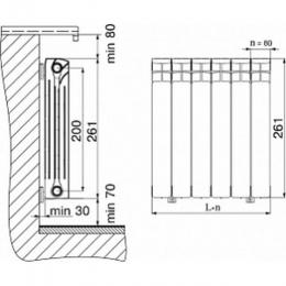 Радиатор биметаллический Rifar 500 9 секций