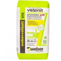 Шпаклёвка финишно-фасадная Ветонит Weber-Vetonit VH белая