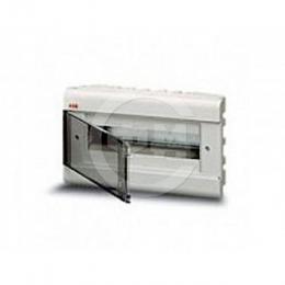 Шкаф АВВ для скрытой установки на 12(14) модулей прозрачная дверь