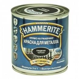 Краска по металлу Хамерайт (Hammerite) чёрная, полумат, 5л (1шт/упк.)