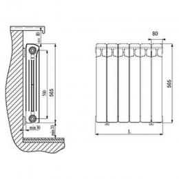 Радиатор биметаллический Rifar 350 3 секций
