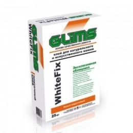 Плиточный клей на основе белого цемента, водостойкий, морозостойкий GLIMS®WhiteFix 25кг