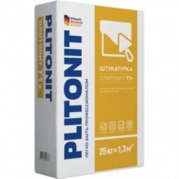 Штукатурная смесь цементная армированная Плитонит Т плюс (25 кг)